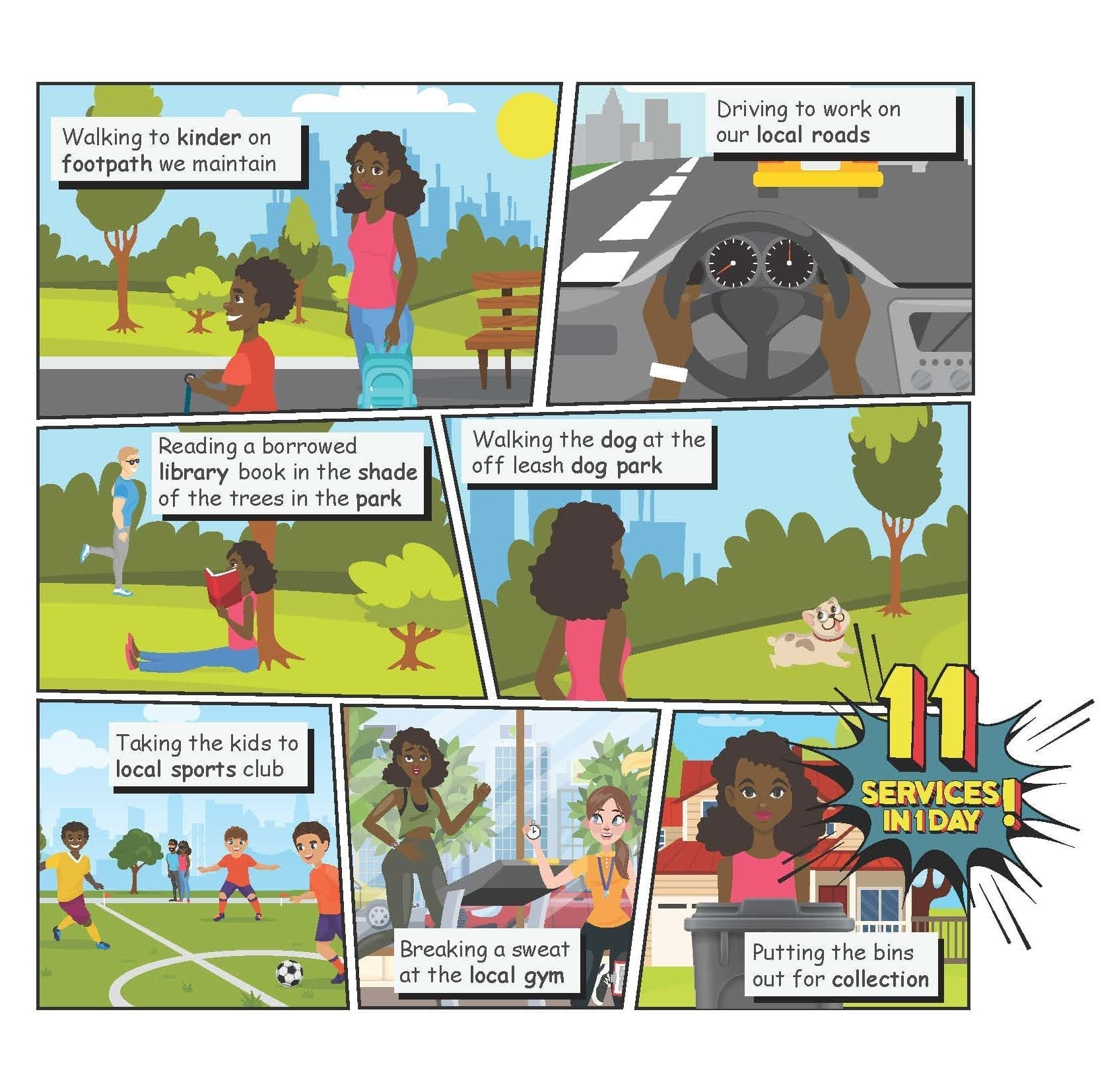 Graphic Design - MVCC3490 - Moonee Valley Services - Comic Strip - September 2019 - edit