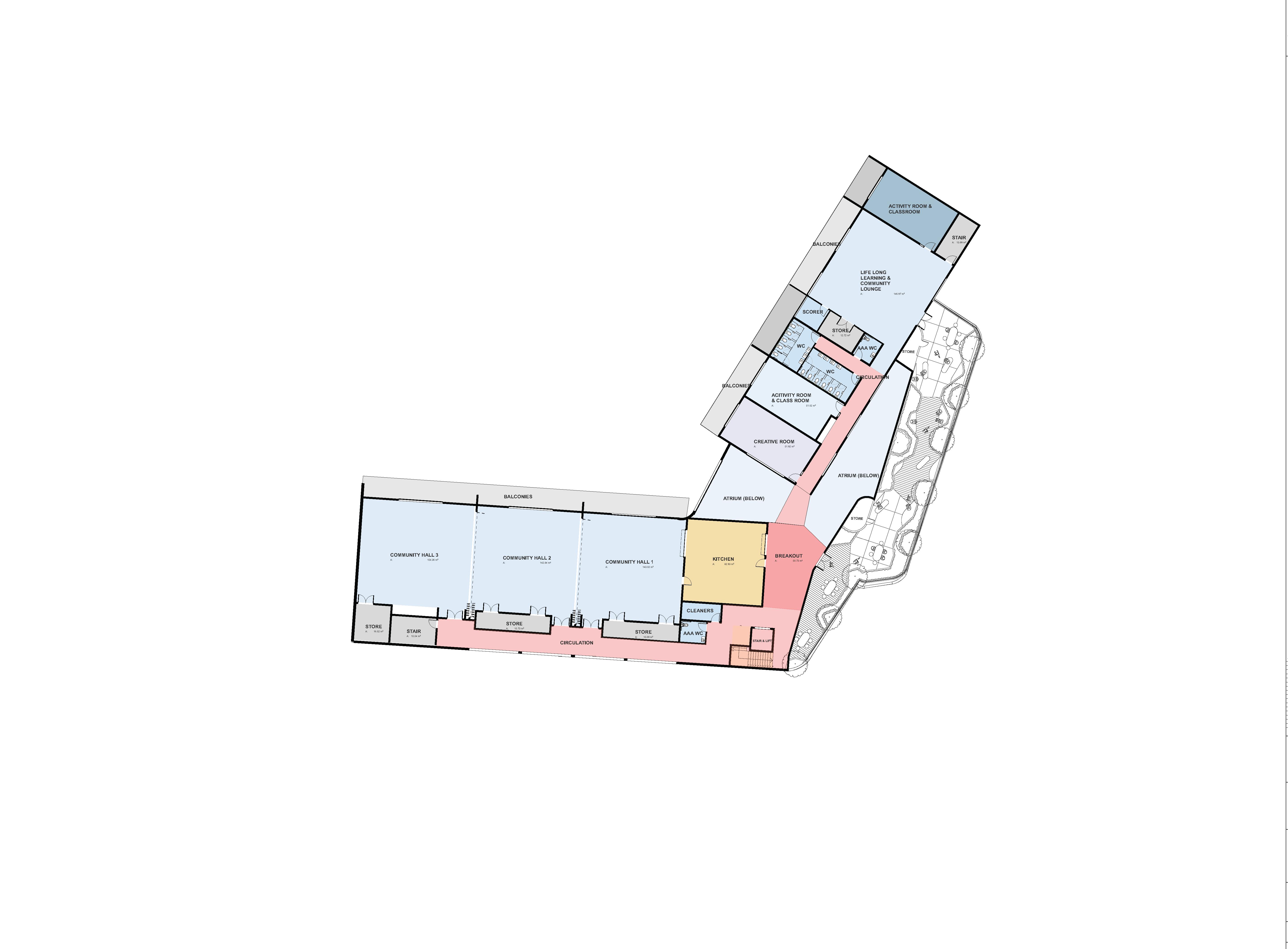1949 A202 REVA First Floor Plan Colour