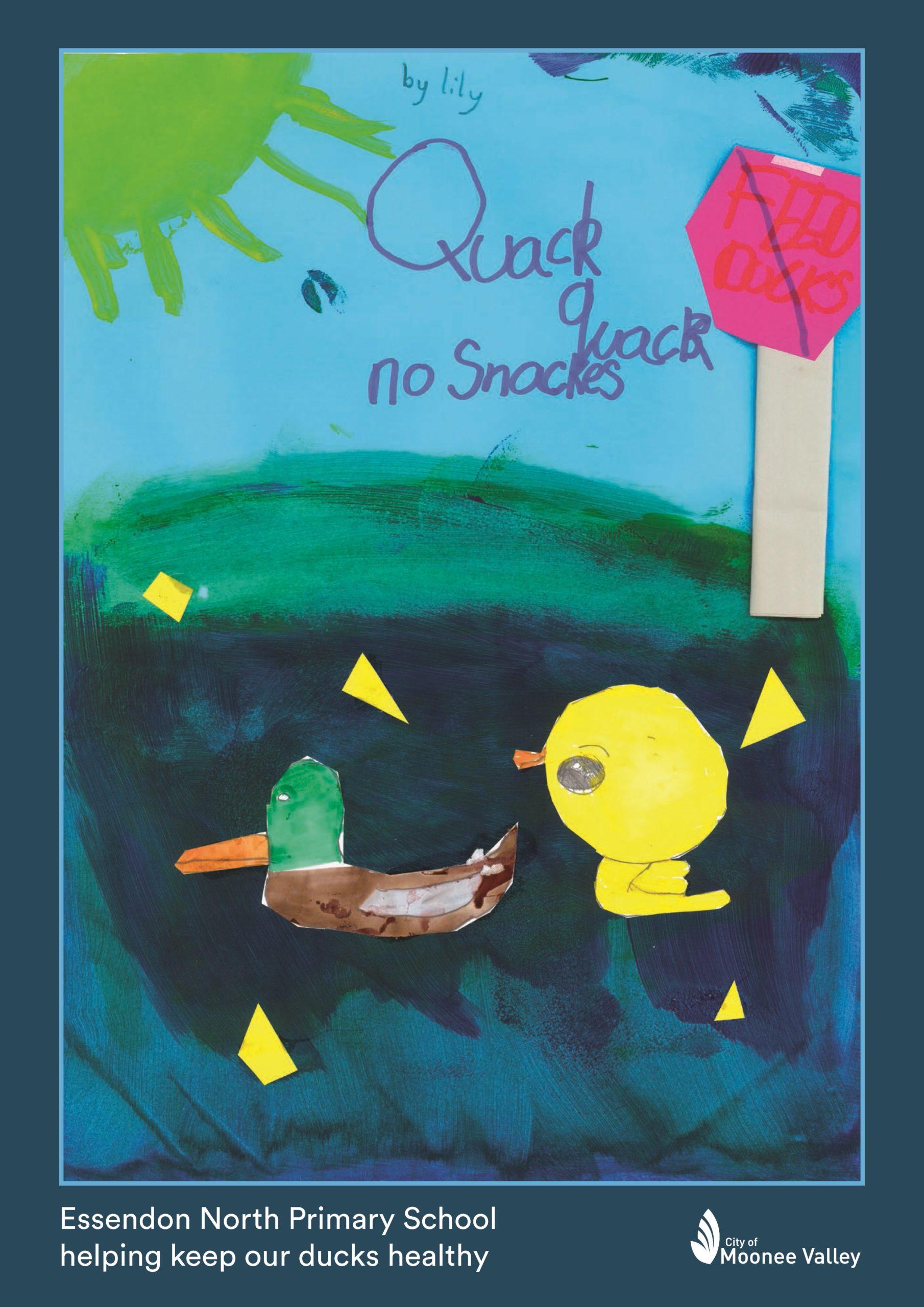20 215088 ENPS Woodlands Park Duck Poster Lily