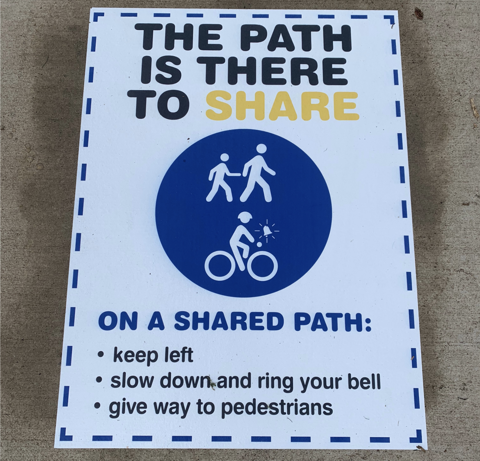 The path is there to share image