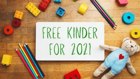 Free kinder for 2021