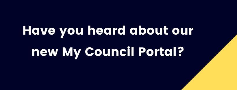 My Council Portal Notice 1
