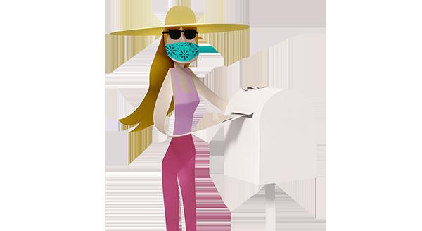Postal voting illustration wide