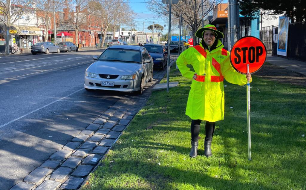 Cr Ava Adams Crossing Guard Uniform Bright Fluro Yellow